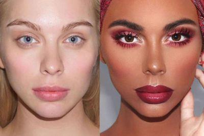 Makeup artist slammed for turning white model black