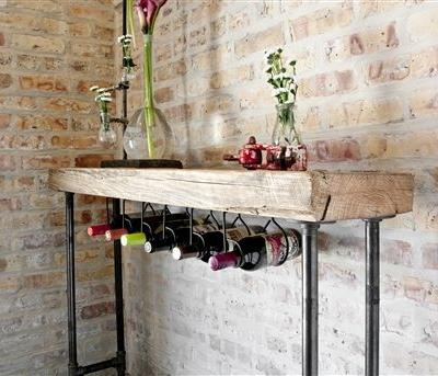 49 Beautiful Reclaimed Wood Console Table Images