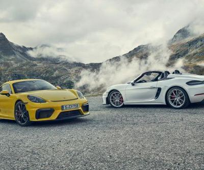 Porsche Reveal 414 HP , Naturally-Aspirated 718 Cayman GT4 and Boxster Spyder