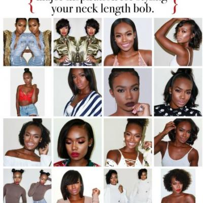 Major Hairstyle Inspo for Your Neck Length Bob. Courtesy of Tamia Styles