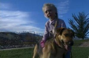 6-Year-Old Girl Charms A Runaway Dog Who Evaded Rescuers For Months