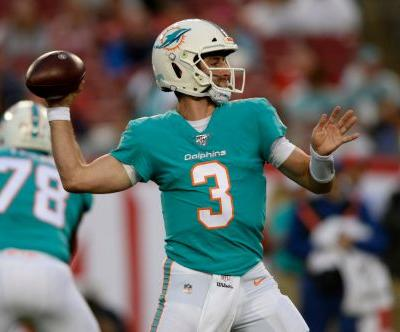 Rosen gets start in Dolphins' 16-14 loss to Buccaneers