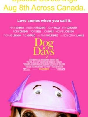 "Enter our ""Dog Days"" Movie Tickets Giveaway to Win"