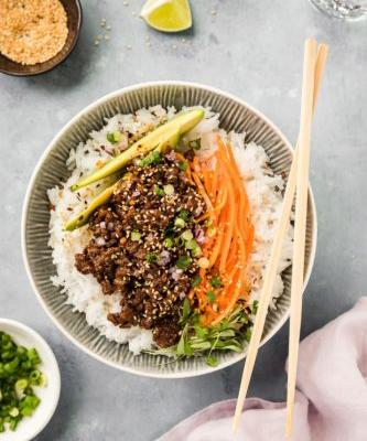 Stir-Fried Hoisin Beef Bowl