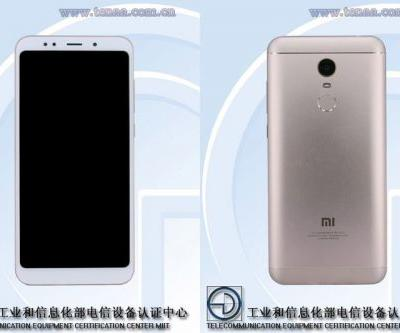 Xiaomi Redmi Note 5 shows up at TENAA with 5.99-inch 18:9 display