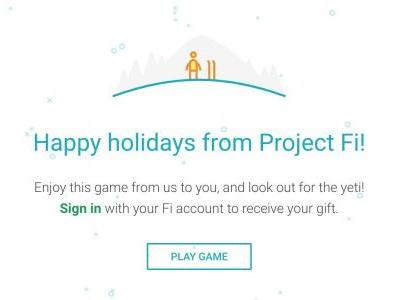 Project Fi's annual 'holiday treat' for subscribers is now live