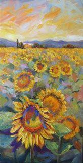 "New ""Sunny Delights"" Palette Knife Sunflower Painting by Niki Gulley"