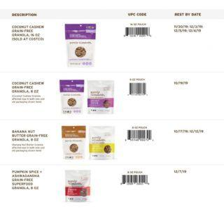 Purely Elizabeth grain-free granola recalled for metal, chemical risks