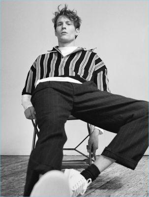 Parallel Lines: Felix Gesnouin Sports Striped Styles for Matches Fashion