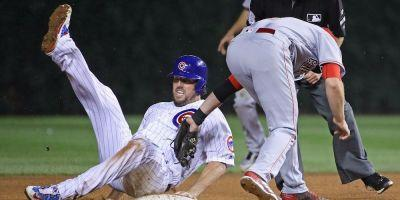 5 minutes after his first career stolen base, a 38-year-old Cubs pitcher was picked off while trying for another one
