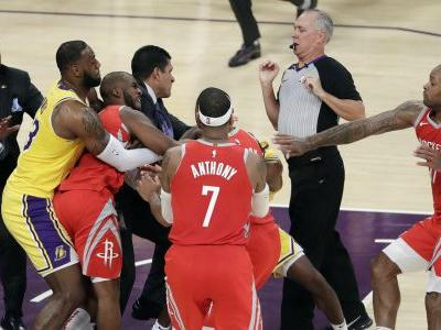 AP source: NBA investigating Lakers-Rockets dustup