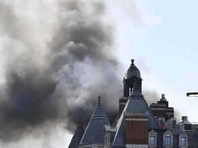 120 firefighters sent to London hotel, smoke diminishing