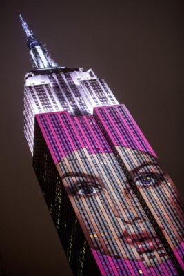 See All of the Iconic Harper's BAZAAR Photos Projected on the