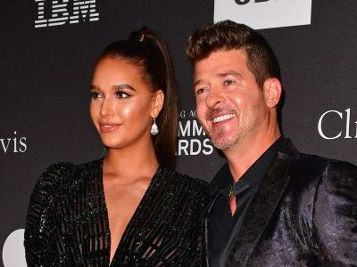 April Love Geary Says She Wants Baby No. 3 With Robin Thicke: 'Meet Me in the Bedroom?'
