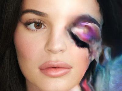 'Dazed Beauty' Used AI to Do Kylie Jenner's Makeup, and the Results Are Eerily Fascinating