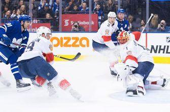 Panthers can't overcome slow start, lose to Maple Leafs 7-5