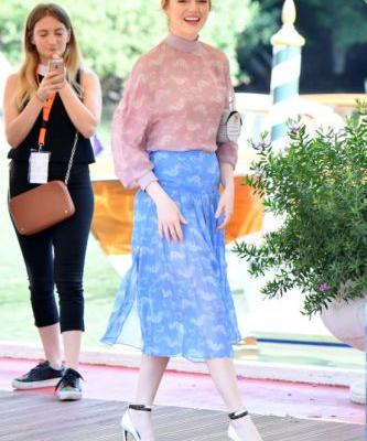 Emma Stone Looks Like a Dainty Summer Street Style Dream at the Venice Film Festival