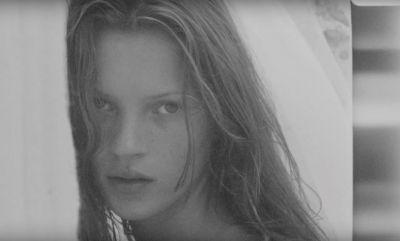 Unseen footage of 18-year-old Kate Moss on the beach