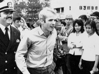 John McCain, a Vietnam war hero, is getting a short-lived tribute at the Pentagon thanks to Trump