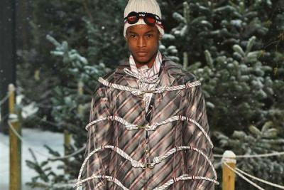 Thom Browne Goes Heavy on the Stripes for Moncler Gamme Bleu's 2017 Fall/Winter Collection