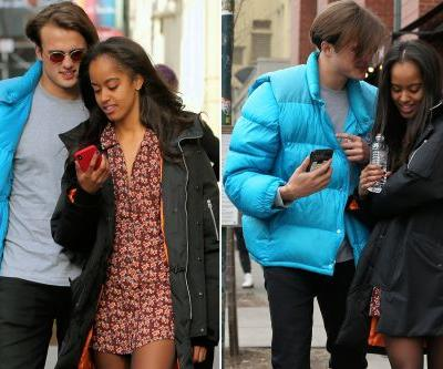Malia Obama and boyfriend get flirty in New York City