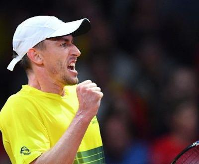 Aussies in early Davis Cup setback, Serbia level with France