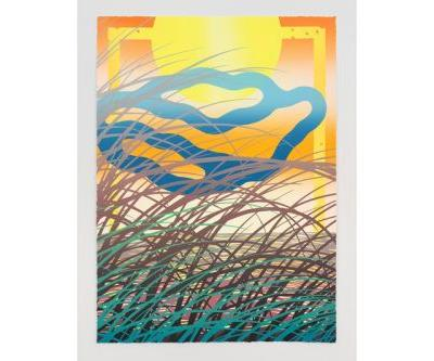 Sam Friedman Presents Abstract Beach Landscapes in New Monoprint Series
