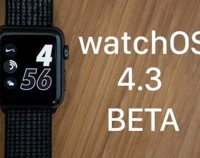 Apple Seeds Sixth Beta of watchOS 4.3 to Developers