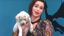 Emilia Clarke Is The Mother Of Puppies In 'Game Of Thrones'-Themed Rescue Dog Plea
