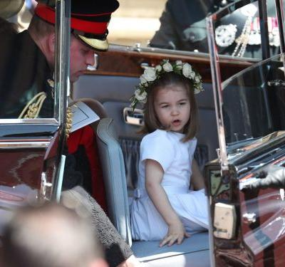 Princess Charlotte was caught sticking her tongue out at the royal wedding - and she was clearly living her best life