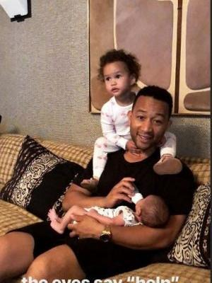 Chrissy Teigen's Instagram Video Of John Legend, Luna, & Miles Will Make You Swoon