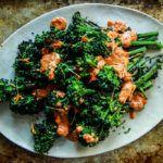 Grilled Broccolini with Romesco Sauce