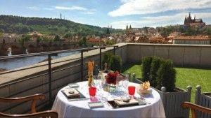 Private Dining at Sunset Atop Four Seasons Hotel Prague