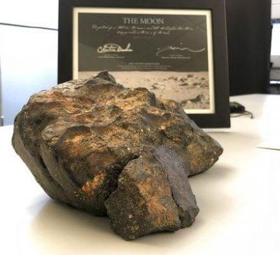 Out of this world: 12-pound lunar meteorite sells for more than $600,000