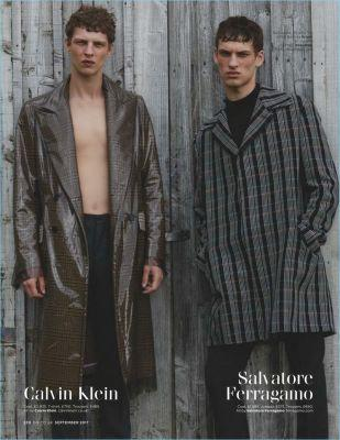 David Trulik & Tim Schuhmacher Model Fall '17 Collections for British GQ