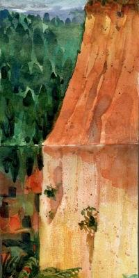 Watercolor: Study for Roussillon