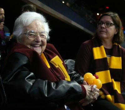 Sister Jean wears custom-made Nikes in Loyola-Chicago's Elite 8 game vs. Kansas State