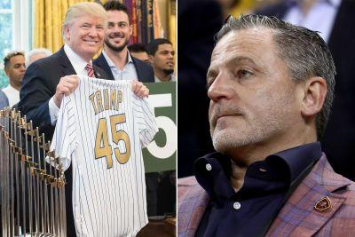 Donald Trump takes time during Cubs visit to mock Cavs owner