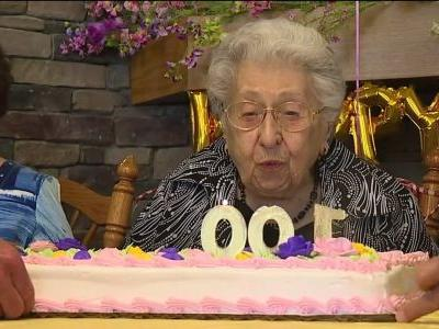 Woman celebrates 100th birthday with the help of social media