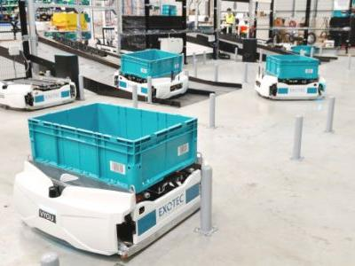 Exotec debuts autonomous Skypod robots in French warehouse