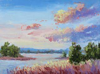 Morning Light Show, New Contemporary Landscape Painting by Sheri Jones