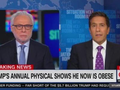 CNN Chyron: 'Trump's Annual Physical Shows He Now is Obese'