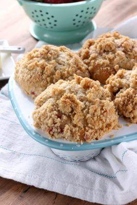 Bakery Style Strawberry Crumb Muffins