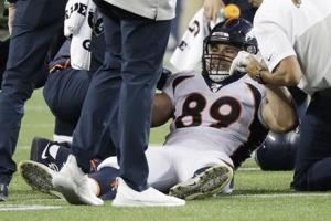 Broncos place Fort on IR, sign offensive lineman