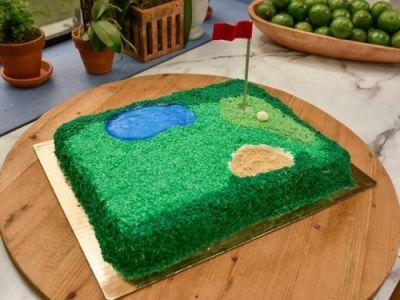Learn how to make this epic Golf Course Cake for Dad on