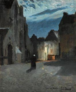 Frits Thaulow, Town by moonlight
