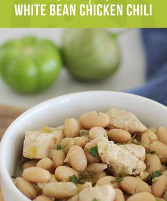 White Bean Crockpot Chicken Chili