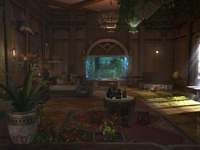 A Final Fantasy XIV player re-created the private quarters from Monster Hunter World