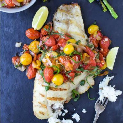 Grilled Snapper with Charred Tomato
