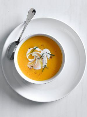 Carrot-Coconut Soup with Fresh Ginger